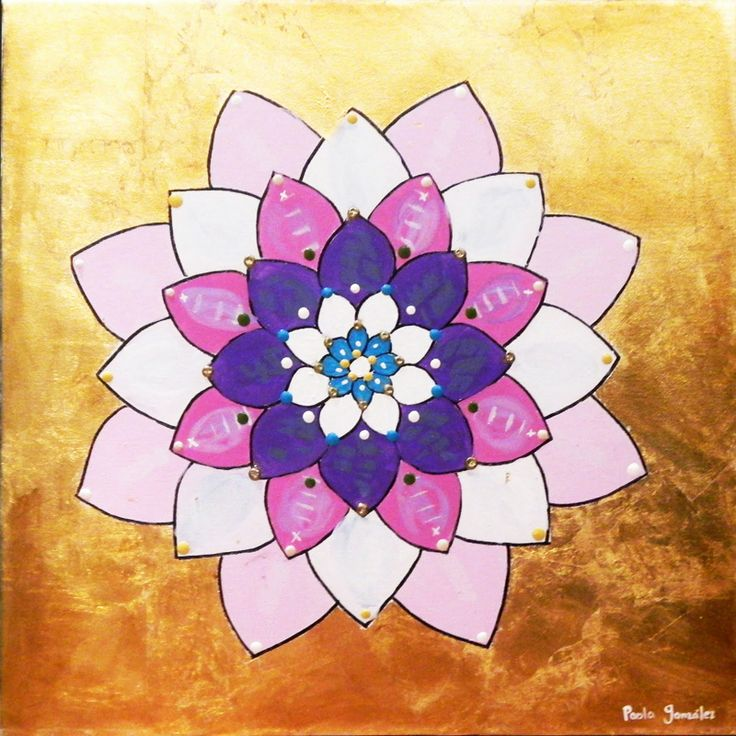 lotus flower meaning | is one of my lotus flowers acrylic over gold leaf lotus flower meaning ...