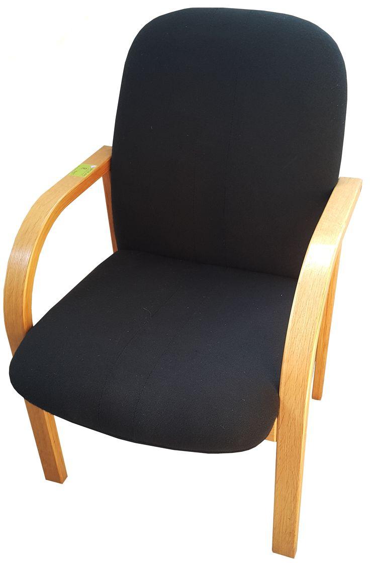 Black oak framed visitors chair @ R395.00