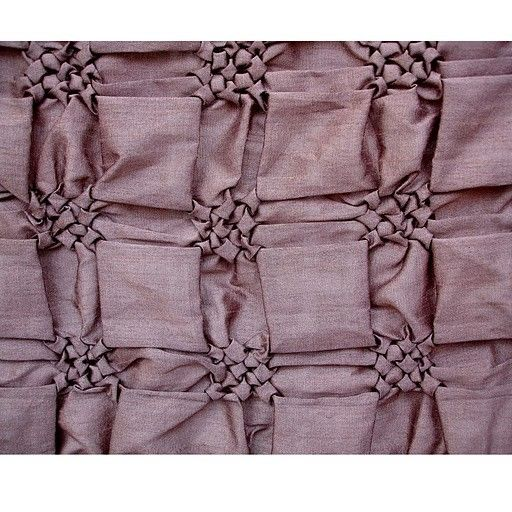 Smocking Squares - Art Silk Wine Color Fabric - Squares Pattern with Smocking Technique. $11.45, via Etsy.