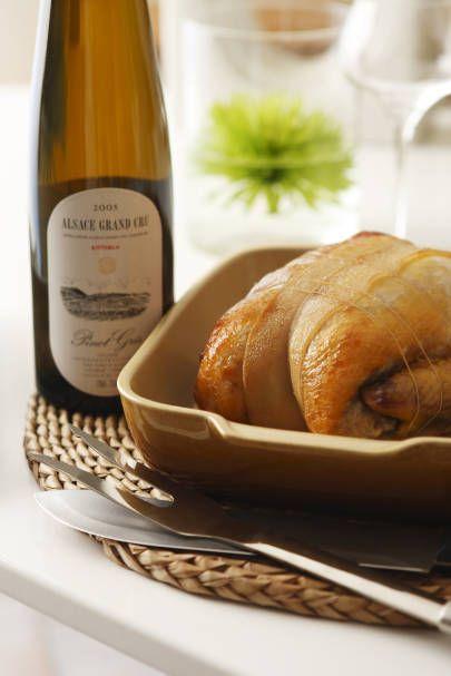 Chapon et Pinot Gris d'Alsace.