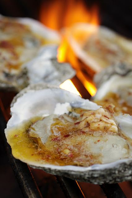 There's a Newf in My Soup!: Shucks, Why Did We Wait So Long? Grilled Oysters with Garlic-Chile Butter