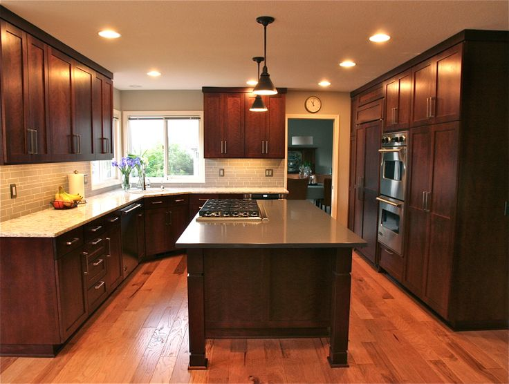 1990 kitchen remodel shaker style cherry cabinets with for Cherry wood paint for kitchen cabinets
