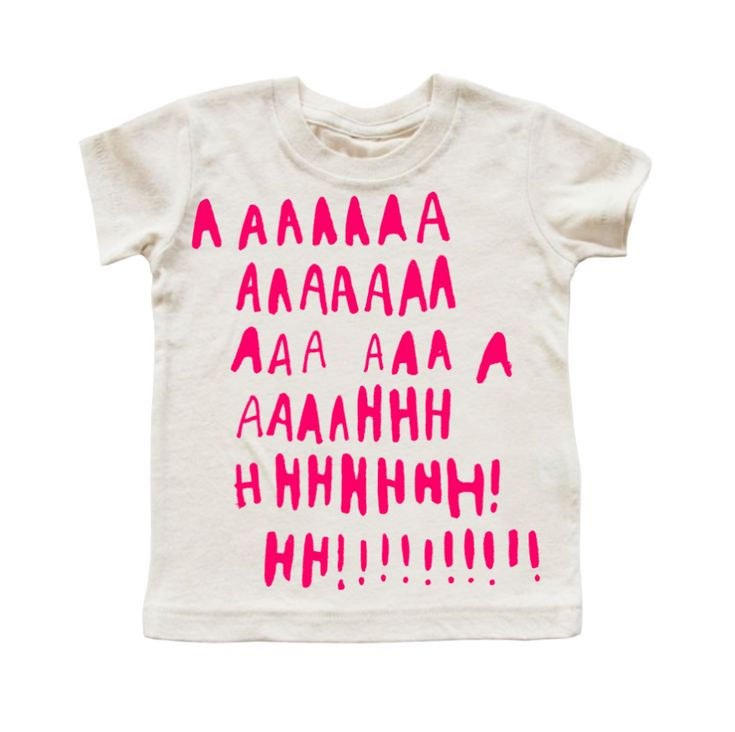 AAAHHHHHH! (NEON PINK) T-SHIRT / kid and kind