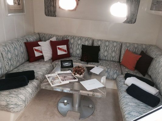 M/Y BAIA 60 interior design for exclusive #Yacht #Cruise in #Sicily