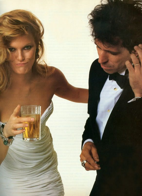 Patti Hansen & Keith Richard by Annie Leibovitz  When Patti Hansen was ill with cancer, Keith Richard and she watched funny films on TCM, which seems to have speeded her recovery! What a husband!