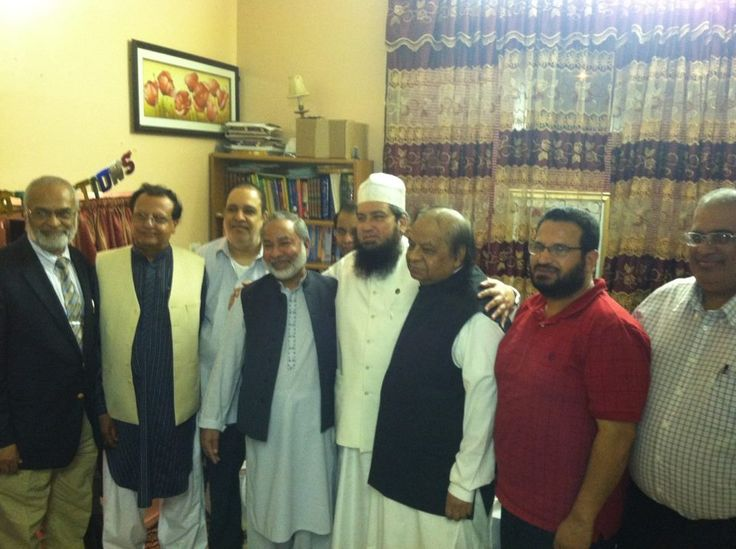 VIP Guests ( from TV ONE, DUNYA NEWS, MDP) with Mufti Muneer Ahmed Akhoon