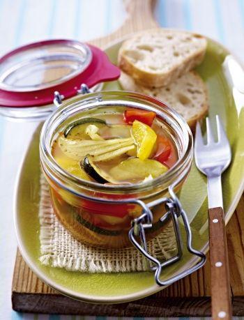 Eingelegtes Sommergemüse Süß-Sauer