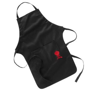 Weber BBQ Apron with Red Kettle Logo, 100% Cotton, Black