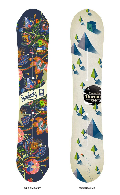 """Antonio- """"Cold"""" Burton Snowboard designs"""