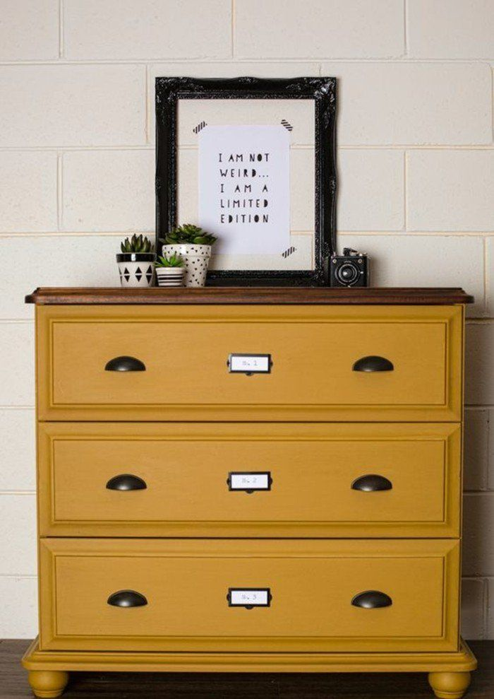 les 25 meilleures id es de la cat gorie commode jaune sur pinterest bureau jaune r novation. Black Bedroom Furniture Sets. Home Design Ideas