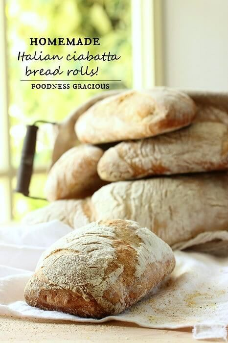 These Ciabatta Bread Rolls taste just like they would if you bought them in a real Italian bakery! Soft on the inside with a chewy exterior they're perfect for making the ultimate sandwich!