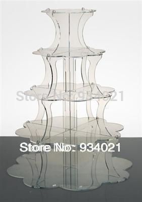 5 Tiers Acrylic Cake Stands Display Or Acrylic Cupcake Display Stand wedding decoration