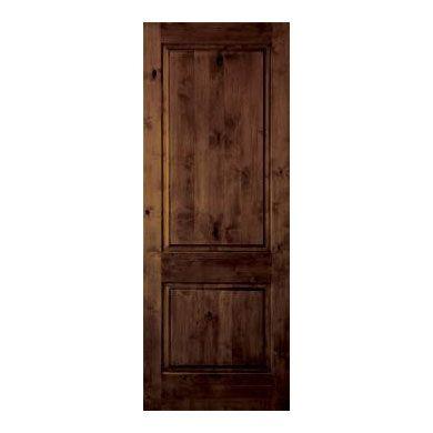 Gorgeous Interior Door Dark Stain Interior Door Two Panel Square Top Door Interior Doors
