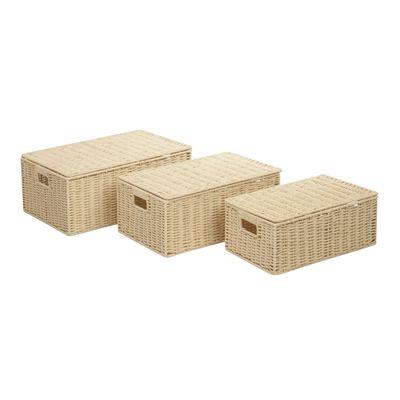 Honey Can Do STO-0355 Parchment Cord Basket Set