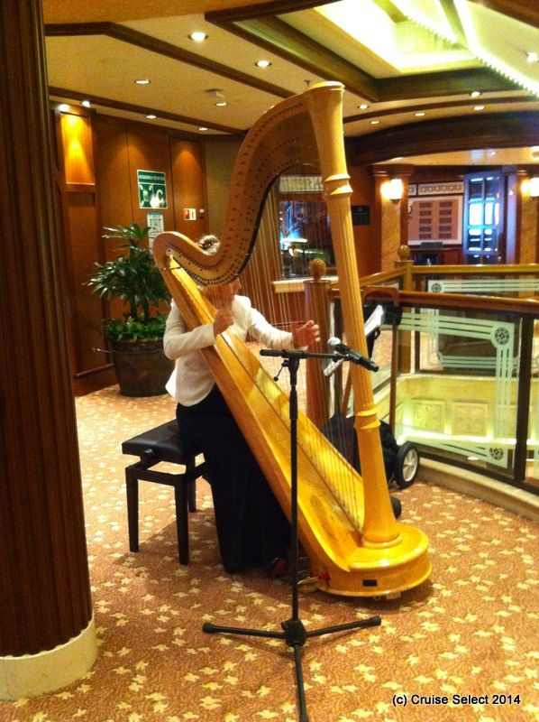 Cunard - Harp player - Aboard Queen Victoria