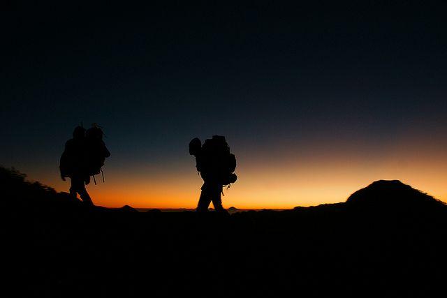 Mount Rinjani Trek - Arrival at Sunset by Lukas Kozmus via Flickr