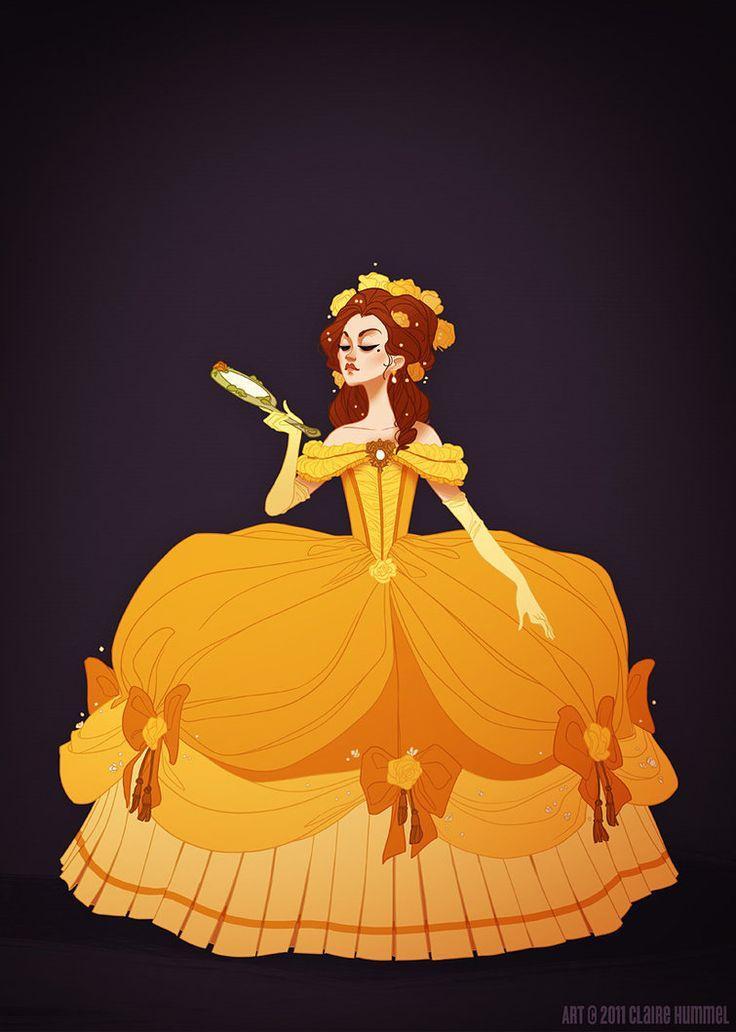 Galería: 14 Princesas de Disney con vestidos exactos a su época