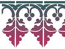 Ягоды и Листья (трафарет для покраски)