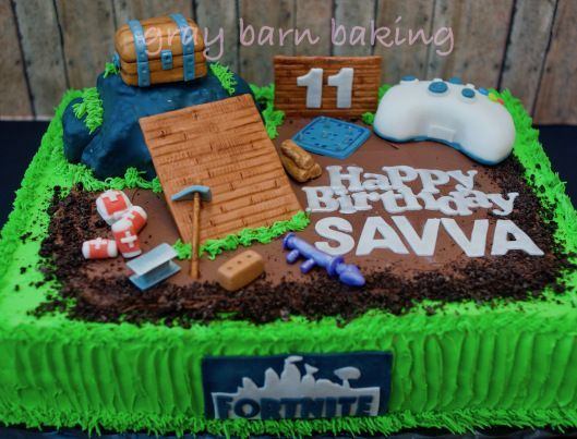 Fortnite Cake0000 12th Birthday Boy Parties Teenage Cakes