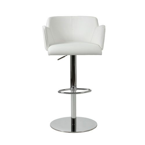 Sunny White Leatherette Bar/Counter Chair Euro Style Adjustable Bar Stools Kitchen & Dinin