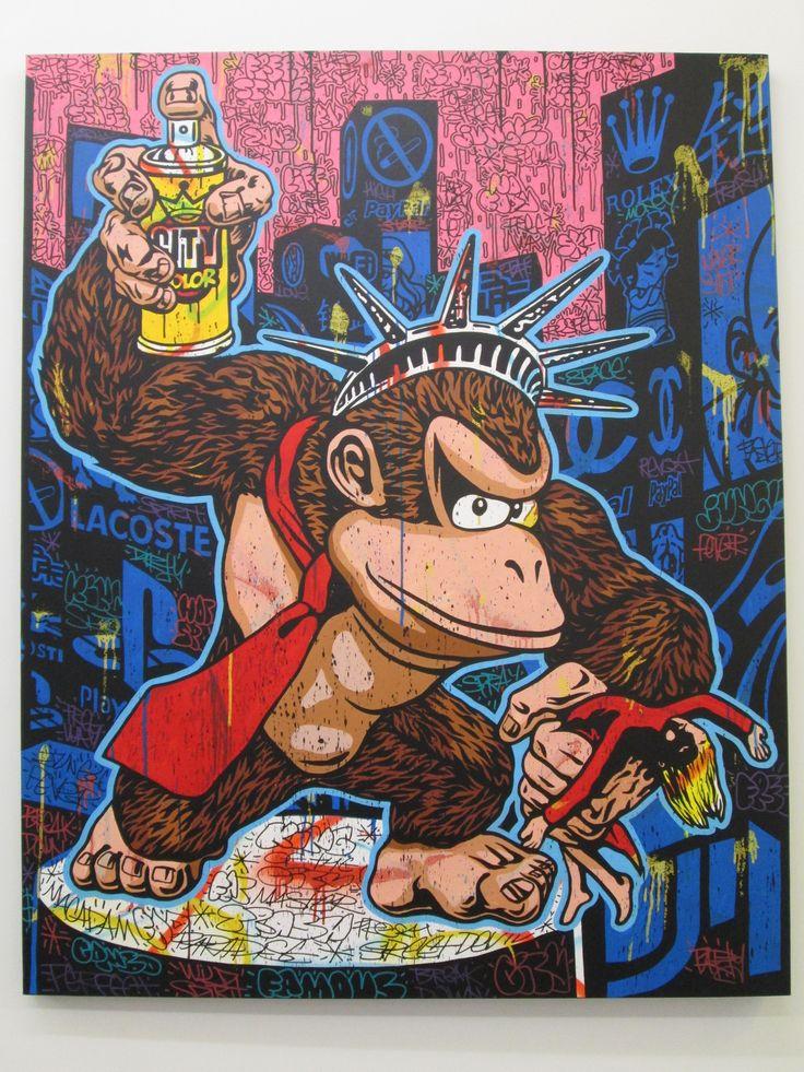 King-Kong King of the city - Speedy Graphito - Galerie Polaris