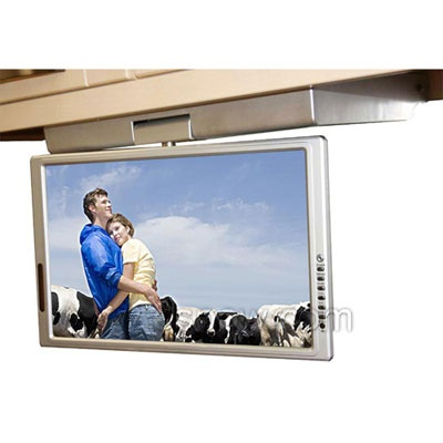 15.4 Inch Waterproof LCD Flip Down Kitchen TV With Built In DVD Player ESPOW