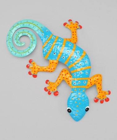 Take a look at this Blue & Orange Gecko Wall Art by Dennis East International on #zulily today!I think some of these would look nice in and around a kids play area. Fun and colourful!!!!