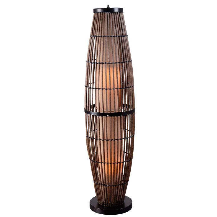 Design Craft Lavinta 51-inch High With Wood Finish Indoor/ Outdoor Floor Lamp