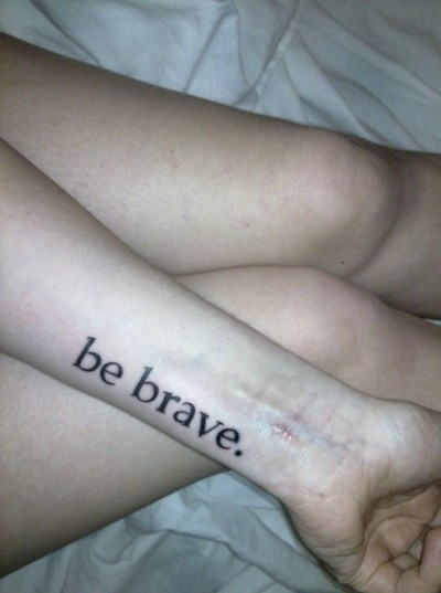 be brave #tattoo #ink #chop