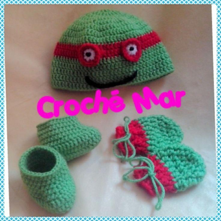 Conjunto de tortuga Ninja por Croche Mar