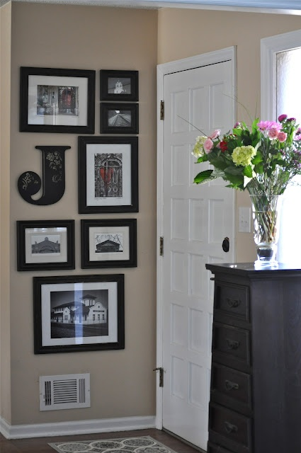 Photo Gallery of places you have lived creates a special entry way