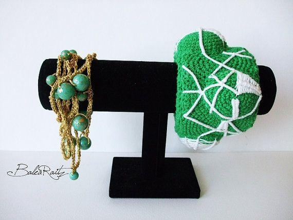 Lariat necklace headpiece belt bracelet   by GreenWindowtotheSoul