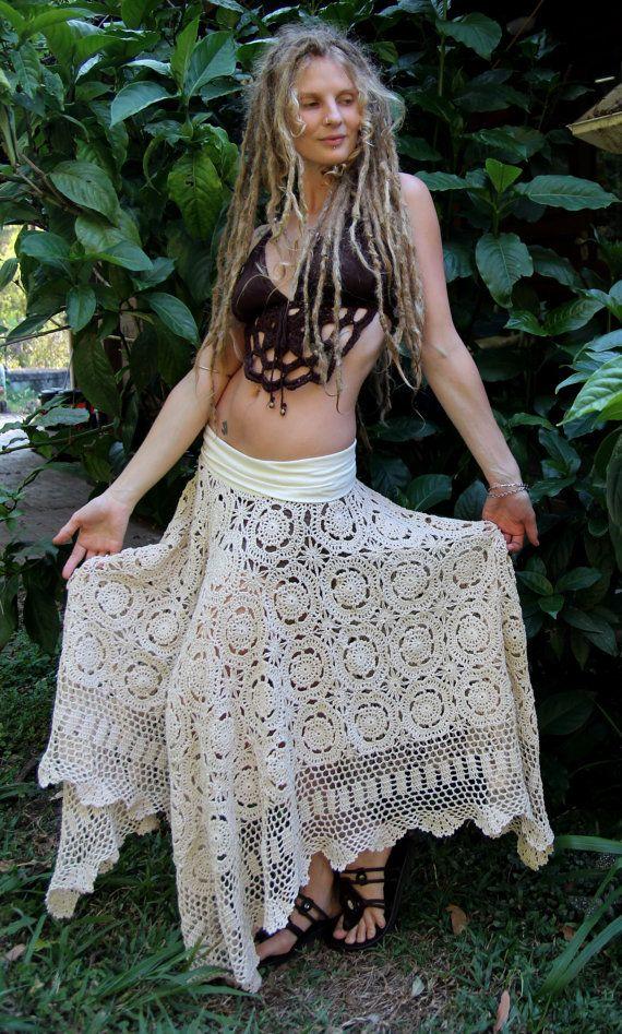 RESERVED Size M/L Earthy Crochet Cotton Hemp Faery by Wyldeskye