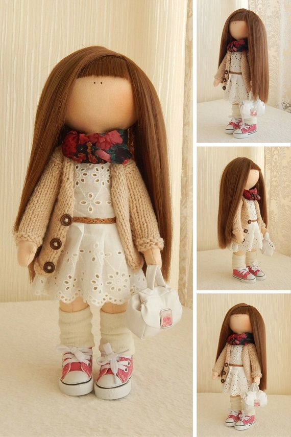 Rag doll Fabric doll Collection doll Soft by AnnKirillartPlace