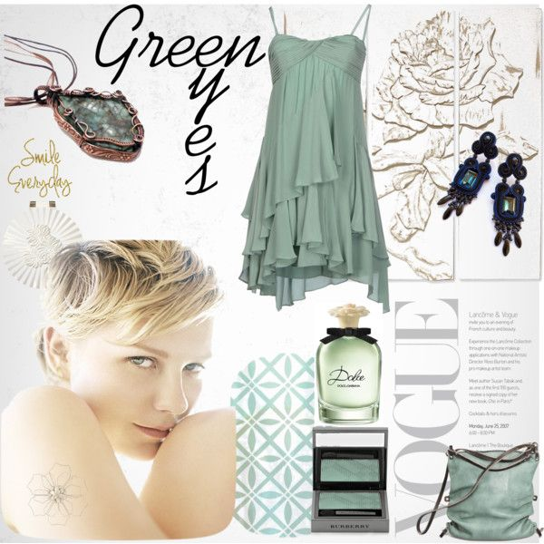 Green Eyes by pilipar-eva on Polyvore featuring Atelier Fixdesign, Ina Kent, Burberry, Dolce&Gabbana, Palecek and Pier 1 Imports