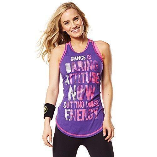 Oferta: 24.68€. Comprar Ofertas de Zumba Fitness Exploding With Attitude - Camiseta sin mangas para mujer, color violeta, talla XXL barato. ¡Mira las ofertas!