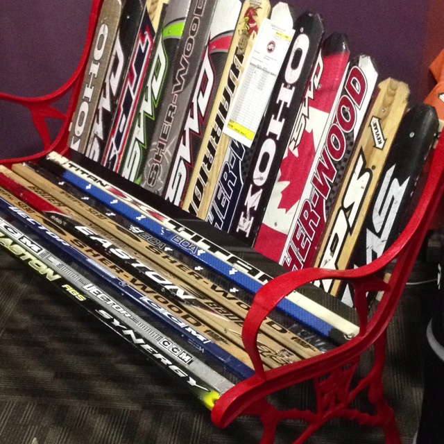 How To Build A Hockey Stick Chair