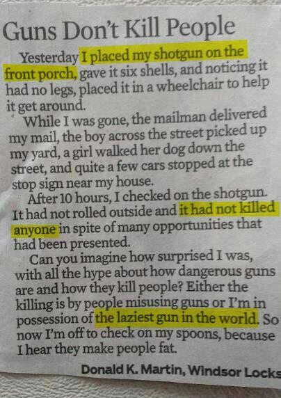 Fifteen Reasons You Should Own A Gun