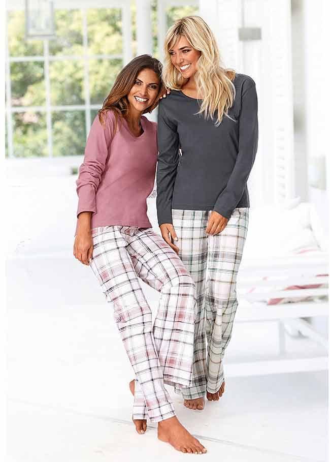Damesmode, Arizona, pyjama set van 2, Shirt met lange mouwen en ronde hals. MEER http://www.pops-fashion.com/?p=31383