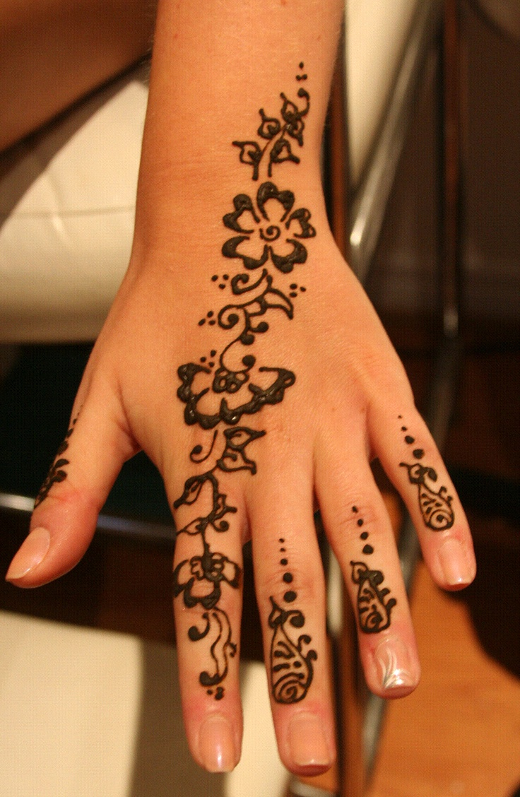 Mehndi Design Couple Hands : Floral henna design on hand an array of mehndi