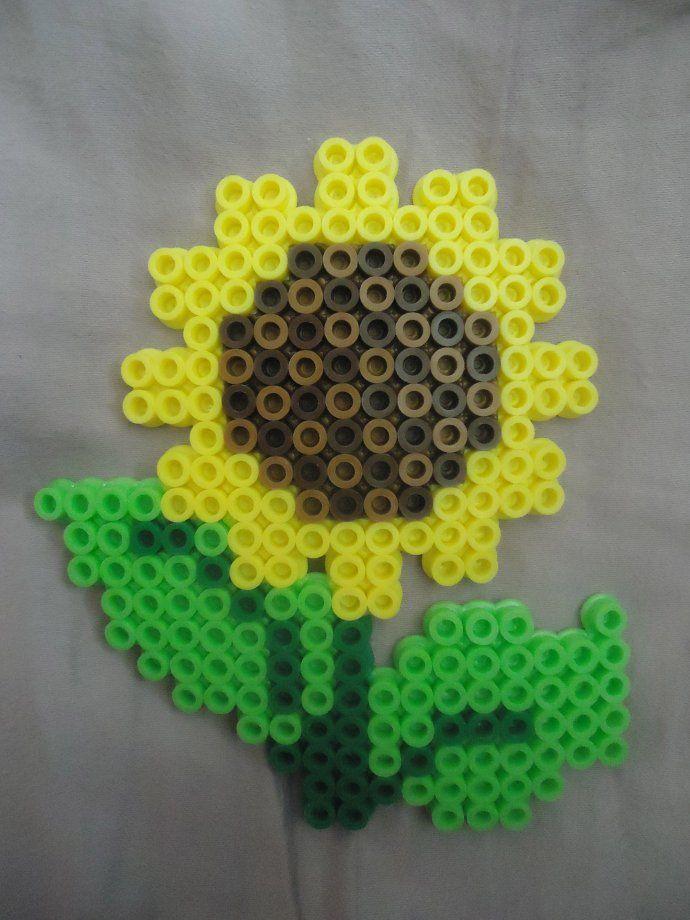 Sunflower perler beads
