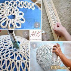 Оригинальная люстра из веревки своими руками + Фото » Дизайн & Декор своими руками