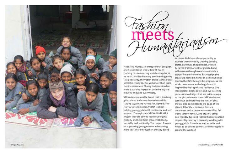 VEENA Featured In Chispa Magazine