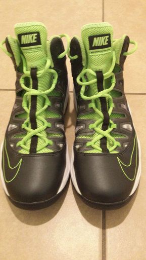 Nike Air Max Stutter Step Basketball Shoes Size 9 Green/Black