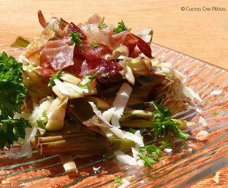 Insalata di carciofi, pecorino e speck croccante – Cucina Cre-Attiva