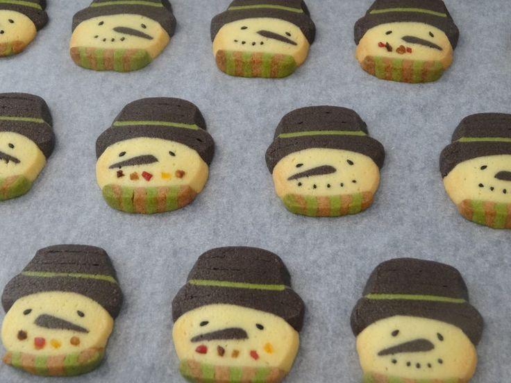 Xmasスノーマンアイスボックスクッキー by えん93 [クックパッド] 簡単おいしいみんなのレシピが233万品