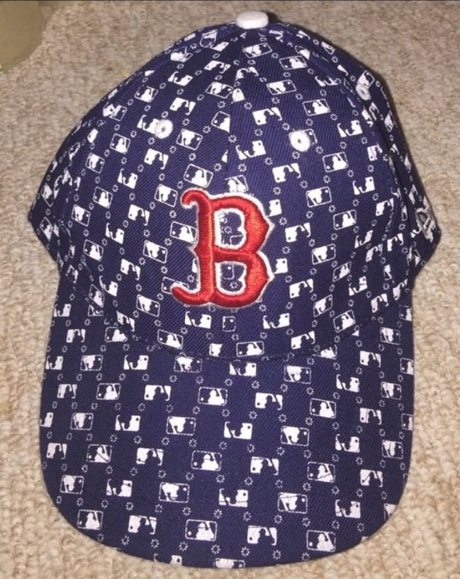Mens MLB Navy Blue Boston Red Sox Embroidered Fitted Baseball Cap Hat 7 1/4 58cm #BostonRedSox