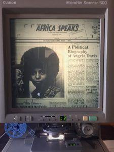 Biography on Civil Rights activist Angela Davis, 1974