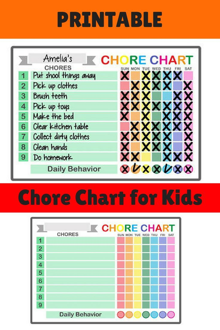 Need A Fun And Easy Chore Chart For Kids Check Out This Printable Chore Chart With The Rainbow Des Reward Chart Kids Kids Responsibility Chart Chores For Kids