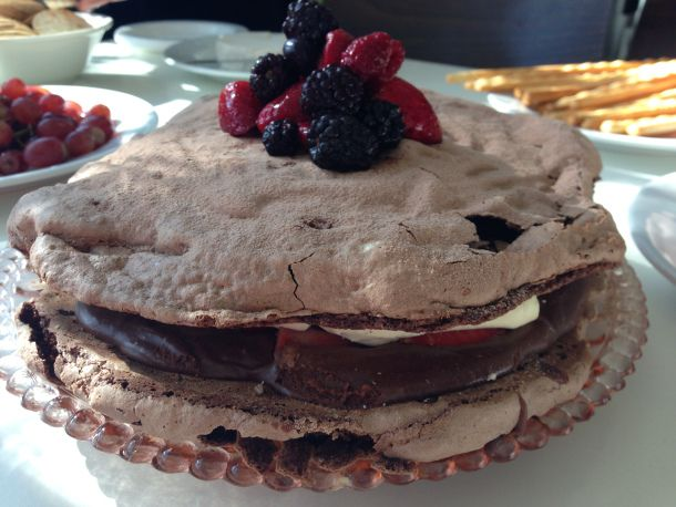 Chocolate Mousse Meringue Cake | The Quirk and the Cool